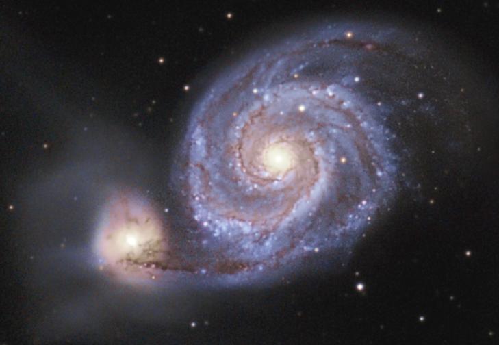 M51 - M51 Whirlpool Galaxy Crop
