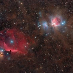 Orion Nebulas region