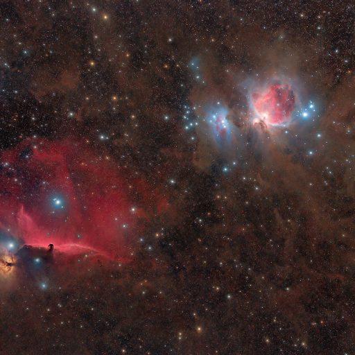 Orion Nebulas region