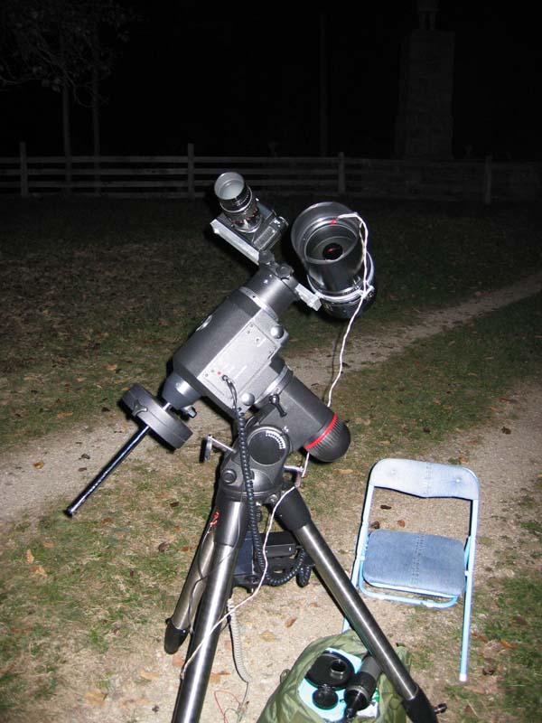 Comet photo setup -