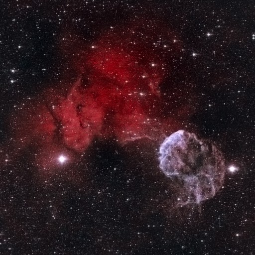 IC443 Jellyfish & NGC2174 Monkey Head Nebulae