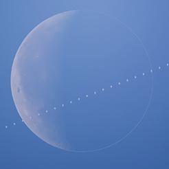 ISS vs Moon