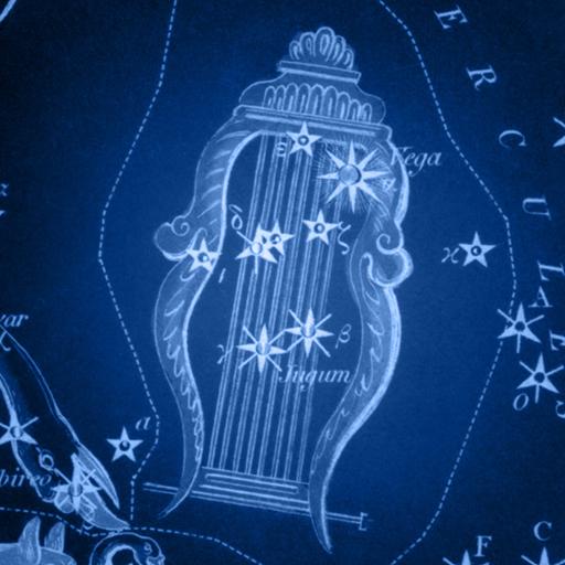 Sidney Hall   Uranias Mirror   Lacerta Cygnus Lyra Vulpecula and Anser 2 - lira lyra
