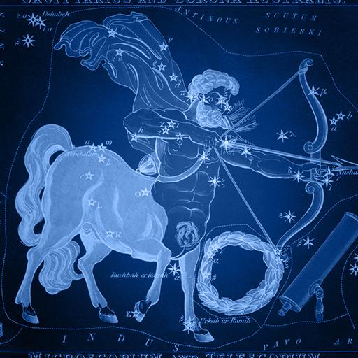 Sidney Hall   Uranias Mirror   Sagittarius and Corona Australis Microscopium and Telescopium 1 - strelac Sagittarius