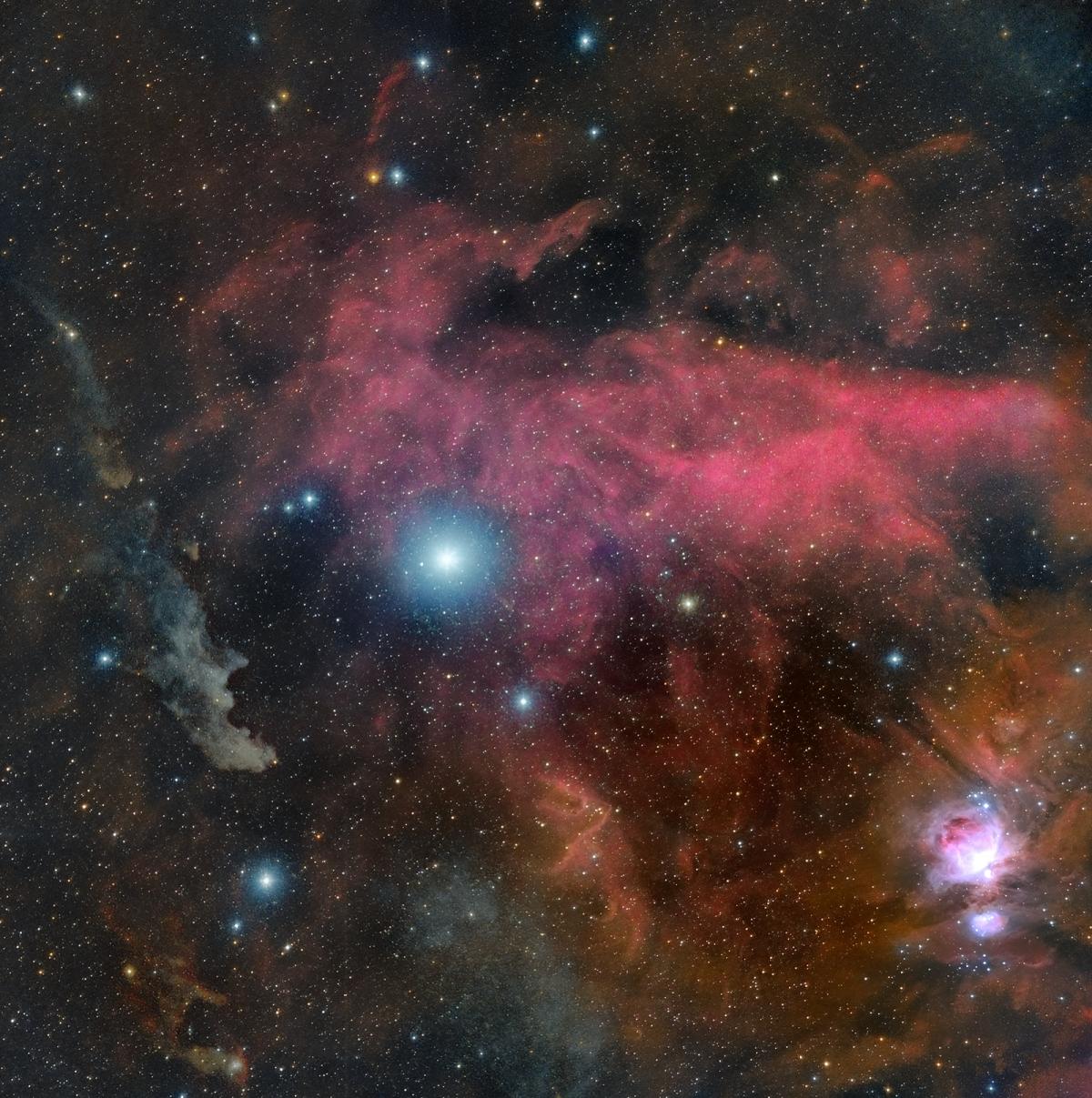 rigel and the witch head nebula 1200x1207 - RIGEL & SURROUNDING NEBULAS