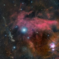 rigel and the witch head nebula 245x245 - NGC 6820 Nebula