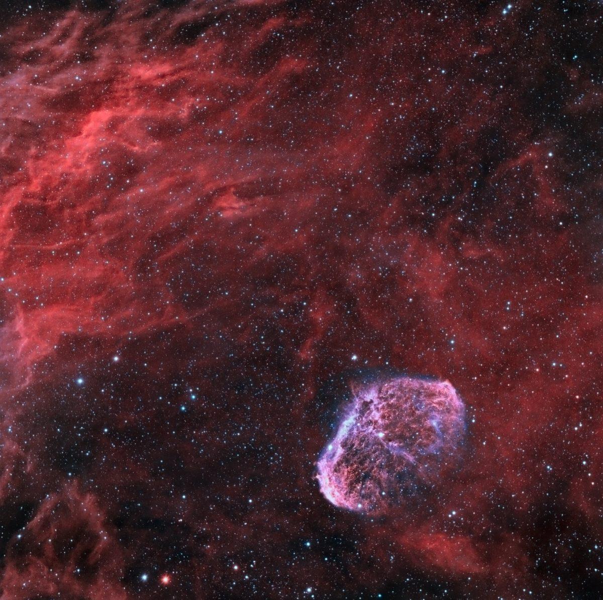 The Crescent Nebula NGC 6888 1200x1194 - NGC 6888 CRESCENT (BRAIN) NEBULA