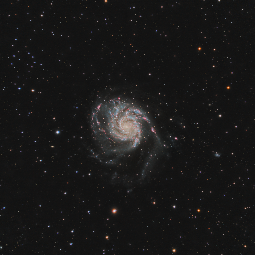 M101 LRGB-Ha pinwheel galaxy