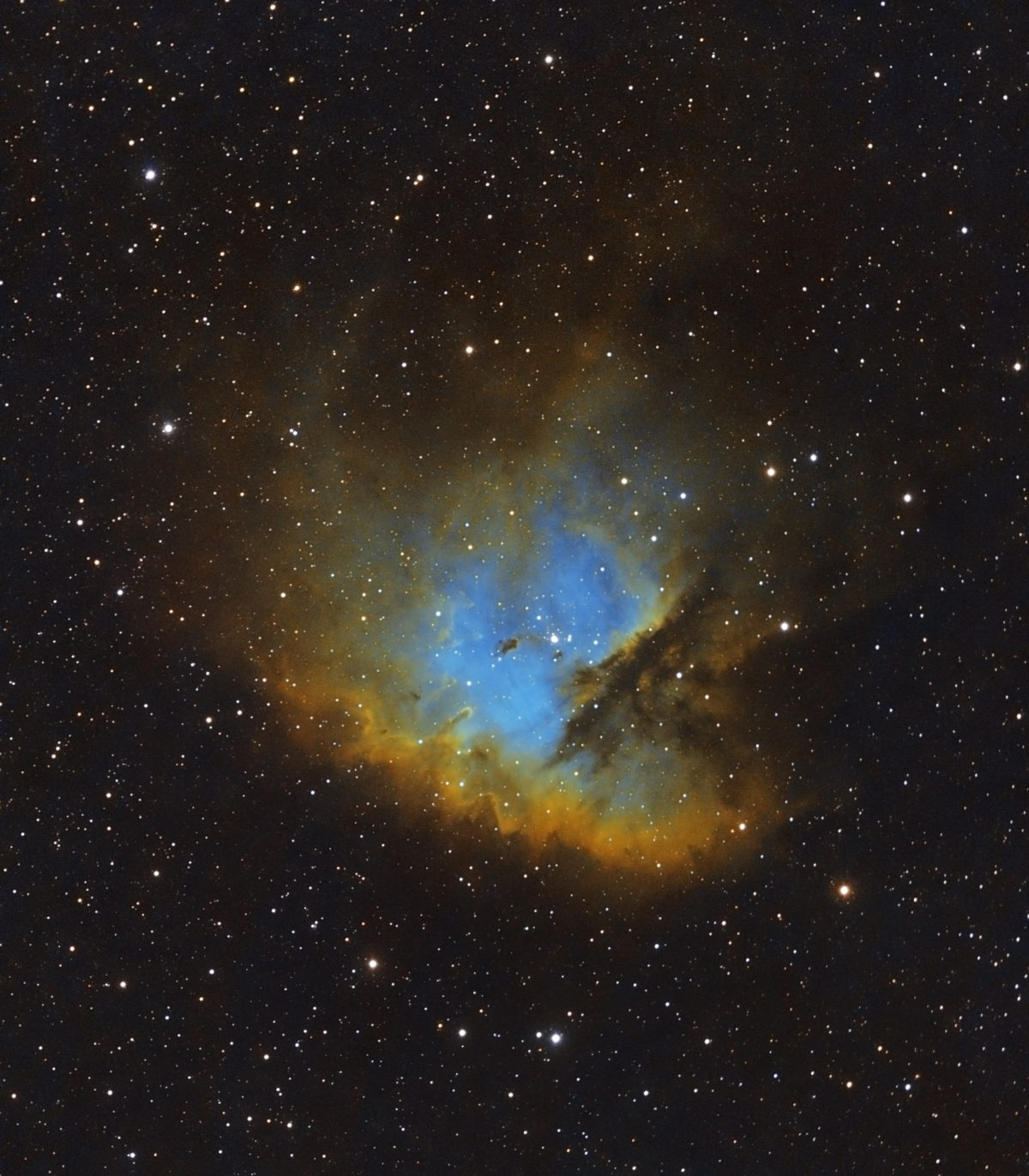 Pacman HST 1200x1372 - PACMAN NEBULA NGC 281