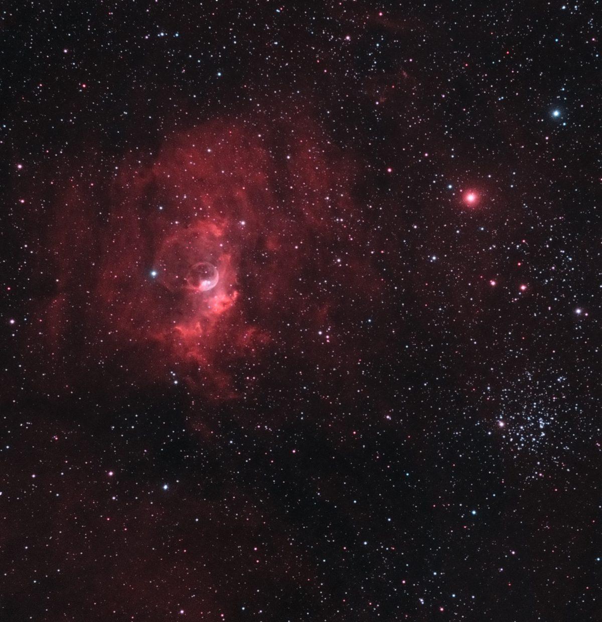 Bublle LRGB 1200x1241 - BUBBLE NEBULA NGC 7635