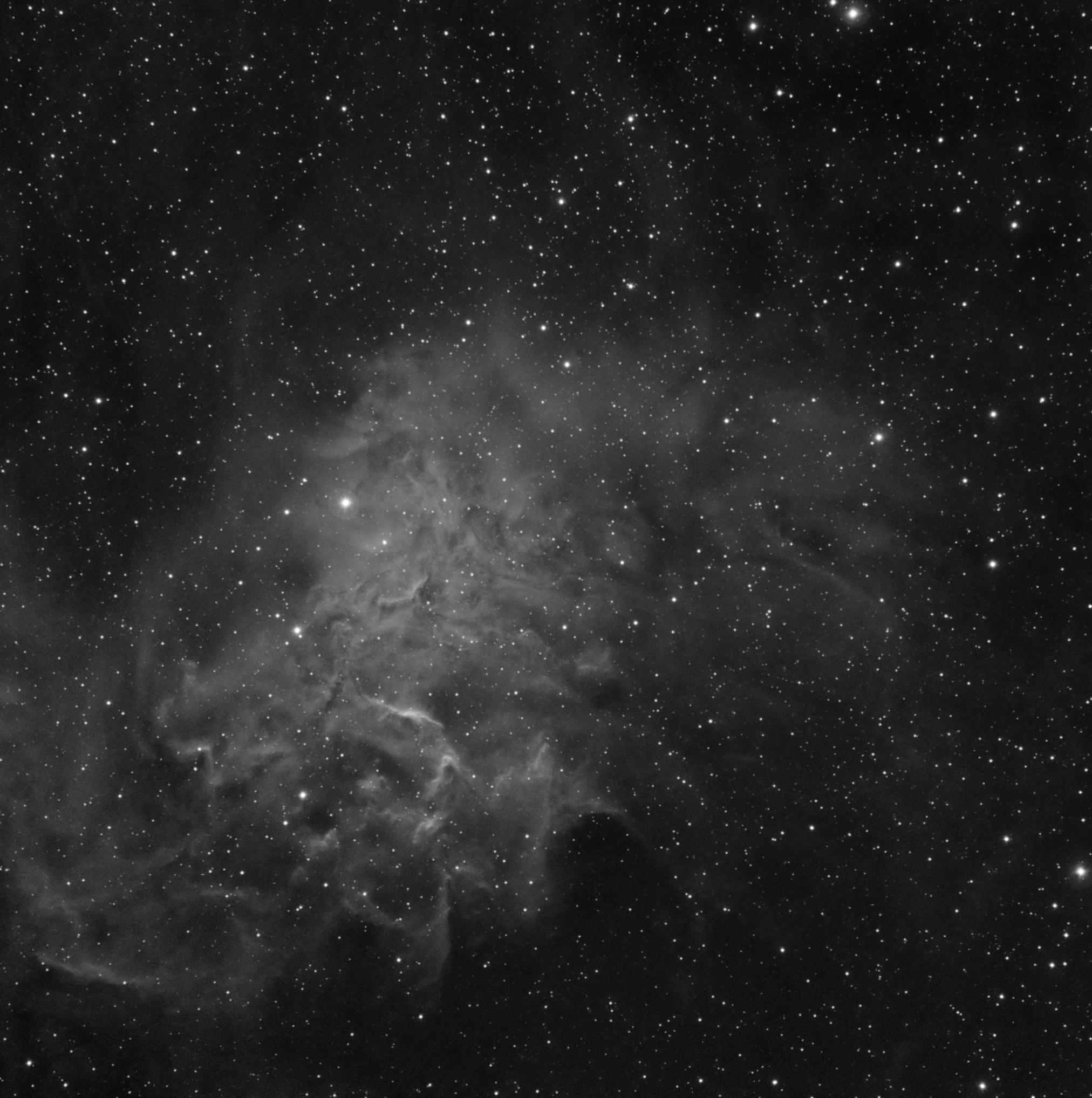 IC 405 flaming star nebula -